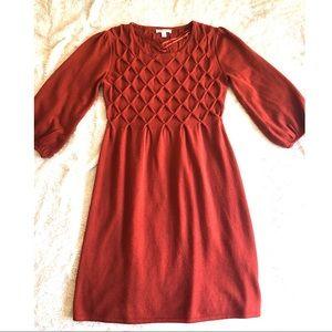 Rust Orange Dressbarn Knit Sweater Dress Size L